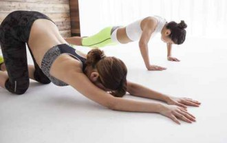Stretch and push-ups