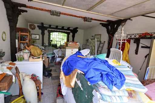 Garage mit mll