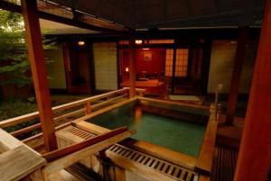 常磐ホテルの客室露天風呂