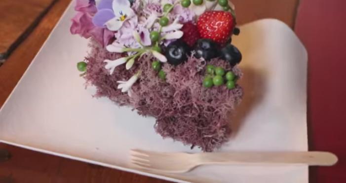 フルーツとお花のケーキ6