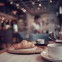 Breakfast tea in a cafe